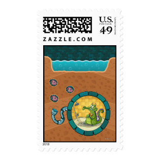 Swampy Pipes Postage Stamps