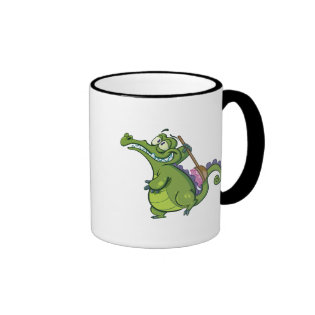 Swampy - Time to Scrub Ringer Coffee Mug