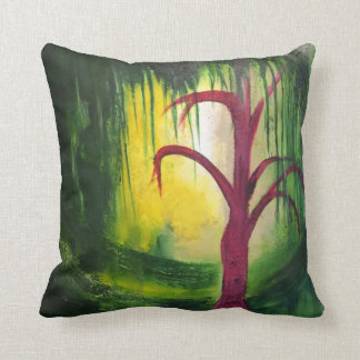 Swampy Tree Throw Pillow