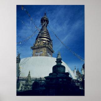 Swamyambunath Stupa Poster