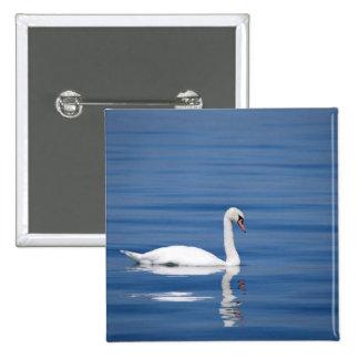 Swan 2 Inch Square Button