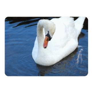 Swan 5x7 Paper Invitation Card