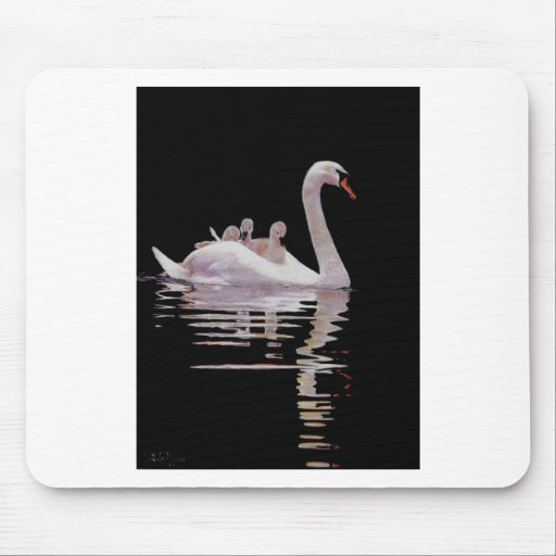 SWAN AND BROOD MOUSEMATS