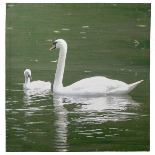 Swan and her Cygnet Napkin
