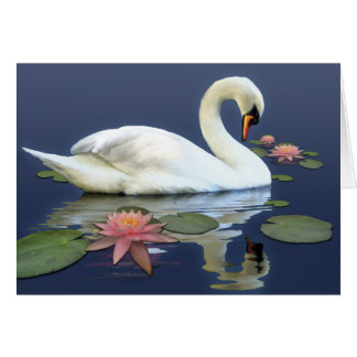 Swan and lilies card