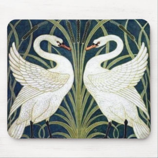 Swan and Rush and Iris wallpaper Mouse Pad