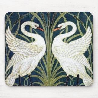 Swan and Rush and Iris wallpaper Mousepads