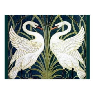 Swan and Rush and Iris wallpaper TBA Awarded Postcard