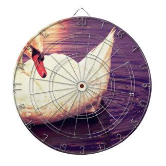 Swan at Sunset Dartboard With Darts