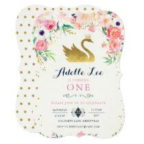 Swan Birthday Invitation