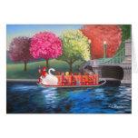 Swan Boat Greeting Card by Liz Boston