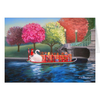 Swan Boat Greeting Card by Liz Boston