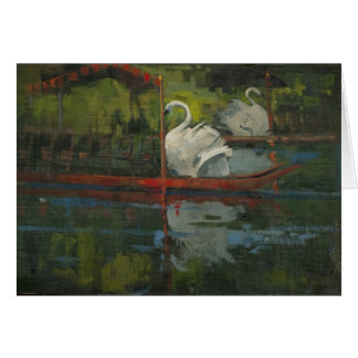 Swan Boat Rides Note Card