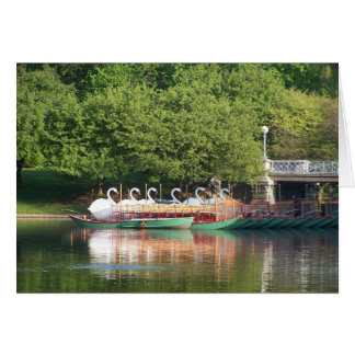 Swan Boats at Rest Card