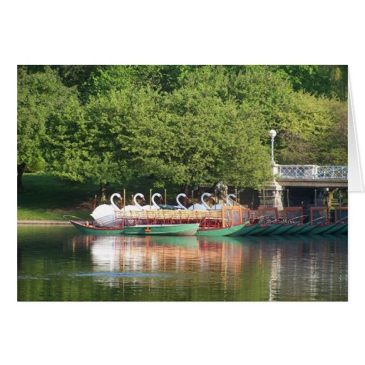 Swan Boats at Rest Stationery Note Card