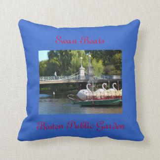 Swan Boats, Boston Public Garden Pillow