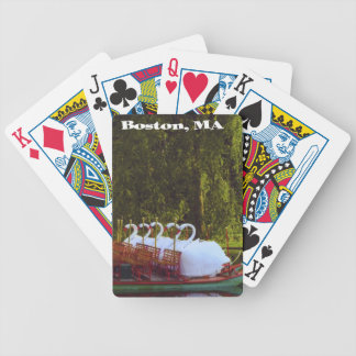 Swan Boats of Boston, MA Playing Cards