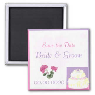 Swan Cake Wedding Favor or Save the Date Magnet
