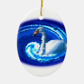 Swan Ceramic Ornament