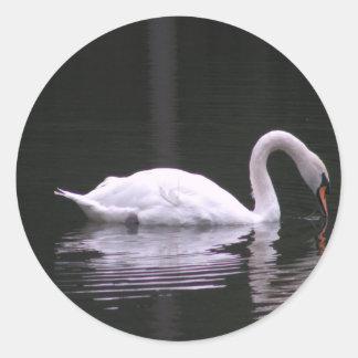 Swan Classic Round Sticker