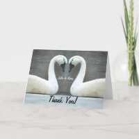 Swan Country Wedding Thank Yous Thank You Card