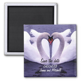 Swan couple save the date magnet