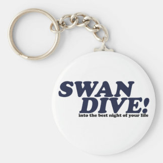 Swan Dive into the night of your life Keychain