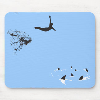 swan dive mouse pad