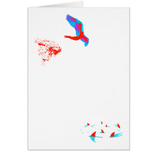 swan dive stationery note card