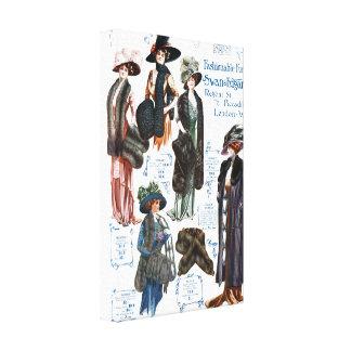 Swan & Edgar's Fashionable Furs #A Canvas Print
