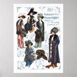 Swan & Edgar's Fashionable Furs #A Poster