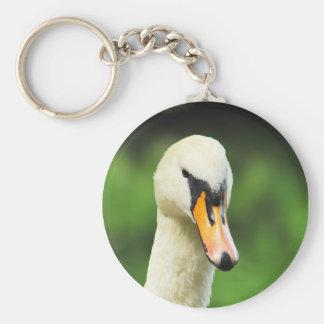 Swan Face Keychain