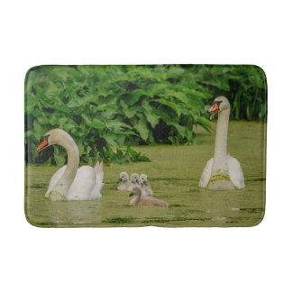 Swan Family Bathroom Mat