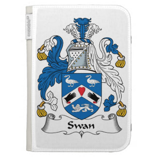 Swan Family Crest Kindle 3G Cover
