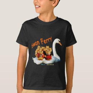 Swan Ferry blk transp T-shirt dsign