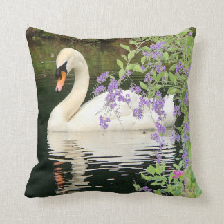 Swan & Flowers Pillow