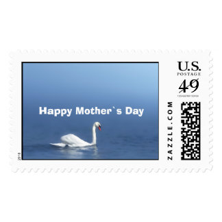 swan, Happy Mother`s Day Postage