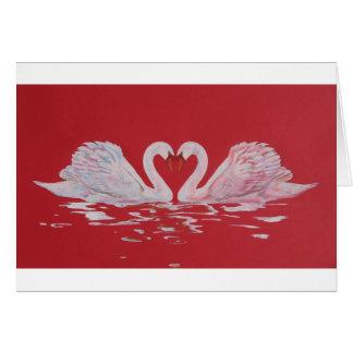 Swan Heart Card