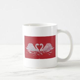Swan Heart Coffee Mug
