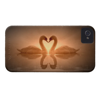 Swan Heart iPhone 4 Cover