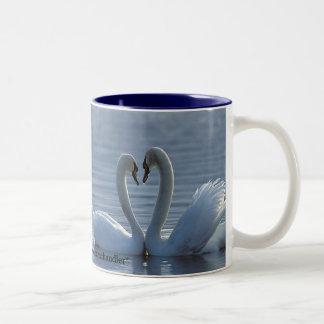 Swan Heart Mug