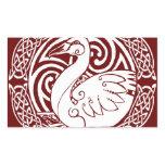 Swan in Snow Rectangular Sticker
