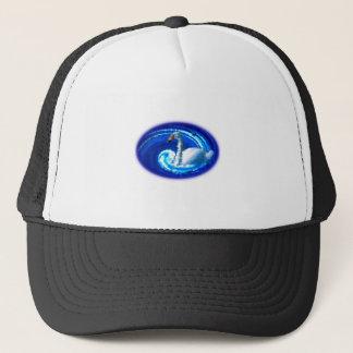 Swan in the eddy trucker hat