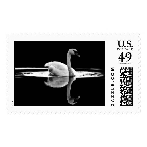 Swan In White Postage