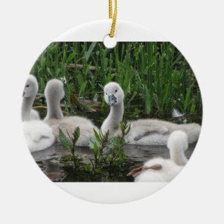 Swan in Wonder Ceramic Ornament