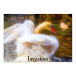 "Swan Invitation 3.5"" X 5"" Invitation Card"
