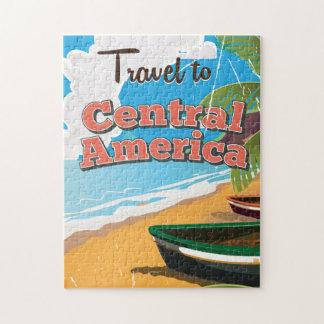 Swan Islands vintage travel poster. Puzzle