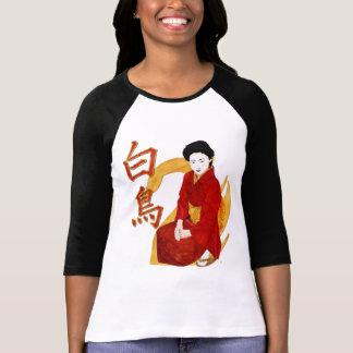 Swan Japanese Geisha Folk Art Tshirts