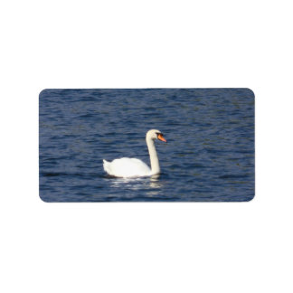 Swan Personalized Address Label
