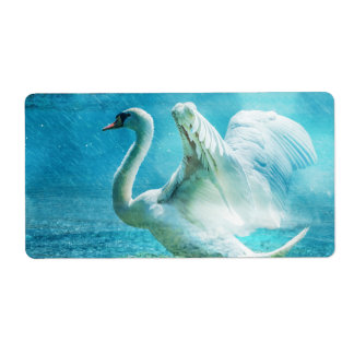 Swan Personalized Shipping Label
